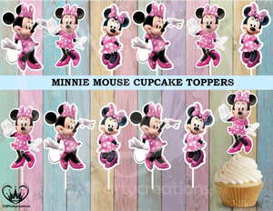 Minnie Mouse Birthday Party Cupcake Toppers