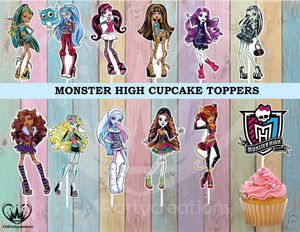 Monster High Birthday Party Cupcake Toppers Die Cuts