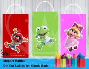 Muppet Babies Die Cut Goody Bag Labels
