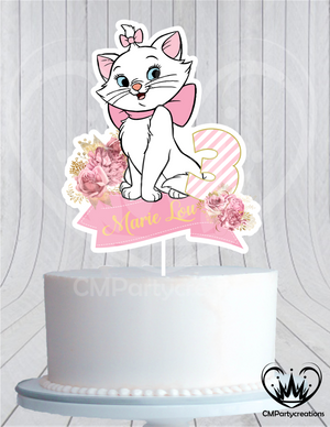 Marie the Cat Cake Topper