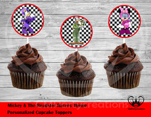 Mickey Roadsters Round Cupcake Toppers