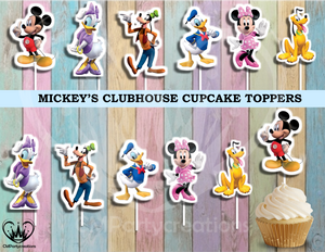 Mickey's Clubhouse Birthday Party Cupcake Toppers Die Cuts