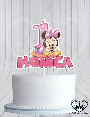 Minnie Baby's 1st Birthday Cake Topper