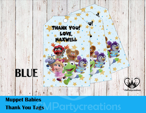 Muppet Babies Personalized Thank You Tags