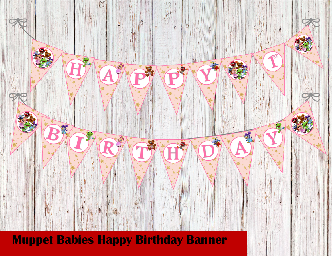 Muppet Babies Birthday Party Banner