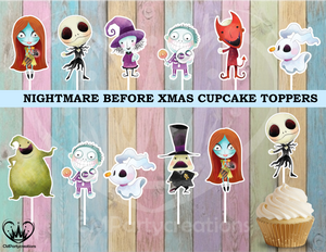 Nightmare Before Christmas Party Cupcake Toppers Die Cuts