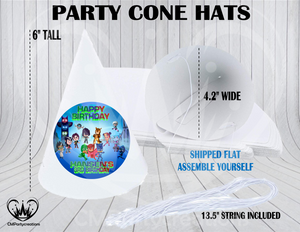 PJ Masks and Friends Personalized Cone Hats