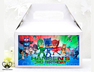 PJ Masks and Friends Labels for Gable Boxes