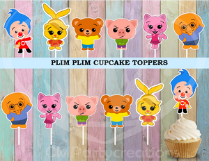 Plim Plim Payaso Party Cupcake Toppers