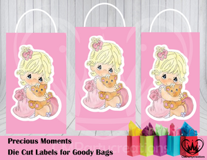 Precious Moments Die Cut Goody Bag Labels