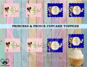 Princess & Prince Cupcake Toppers Die Cuts
