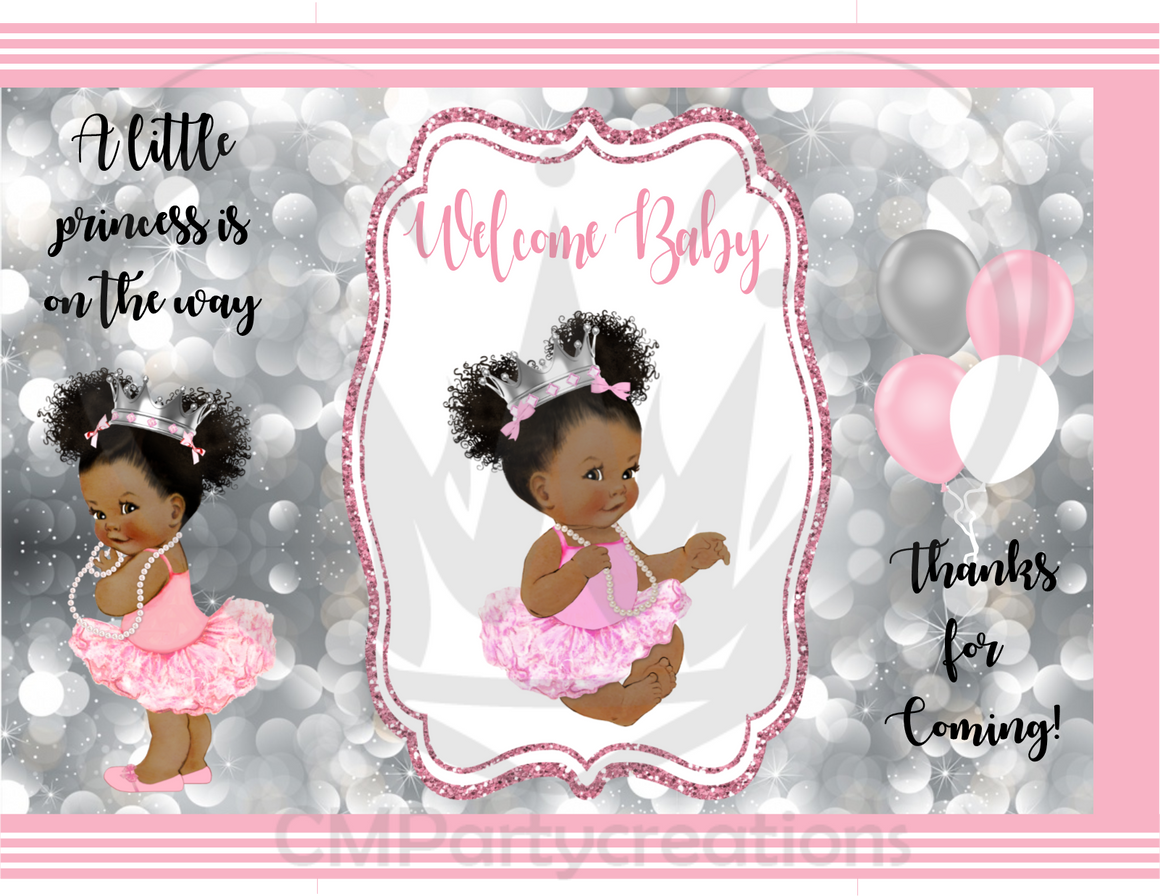 Baby Shower Welcome Baby Girl Chip Bag /  Goody Bags