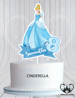 Disney Princess Birthday Cake Topper