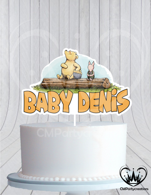 Classic Winnie the Pooh Baby Shower Cake Topper