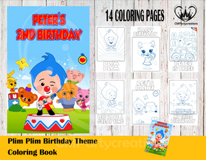 Plim Plim Payaso Coloring Book