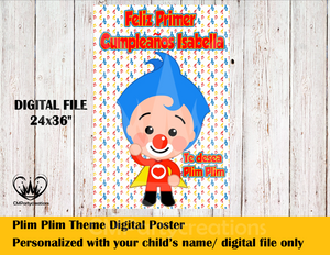Plim Plim Payaso Personalized Digital Poster