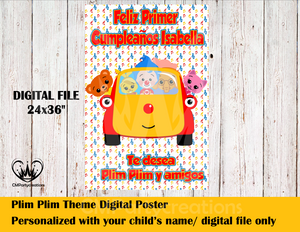 Plim Plim y Amigos Personalized Digital Poster