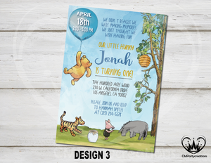Winnie The Pooh Classic Invite With Friends