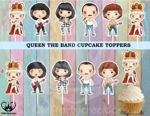 Queen The Band Cupcake Toppers