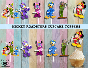 Mickey and Friends Racers Cupcake Toppers Die Cuts