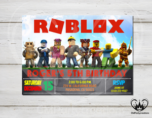 Roblox Group Invitation Birthday Party