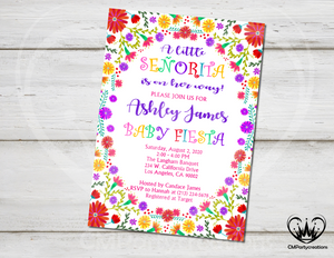 Mexican Invitation Fiesta Floral Baby Shower
