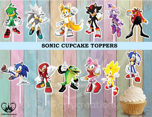 Sonic Birthday Cupcake Toppers Die Cuts