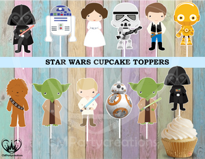 Star Wars Birthday Party Cupcake Toppers Die Cuts
