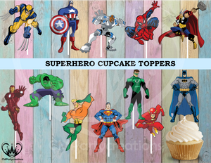 Superheroes Cupcake Toppers Die Cuts