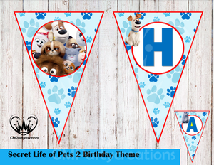 Secret Life of Pets Banner Birthday Party