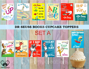 Dr. Seuss Books Birthday Party Cupcake Toppers Die Cuts