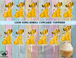 Lion King Cupcake Toppers Birthday Party