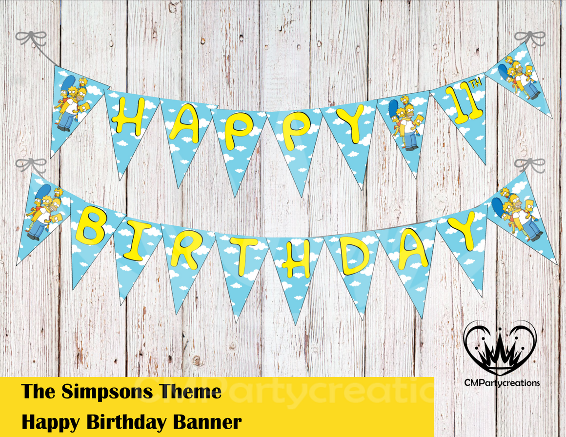 Simpsons Banner Birthday Party