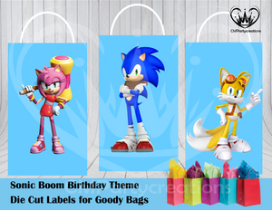Sonic Boom Die Cut Goody Bag Labels