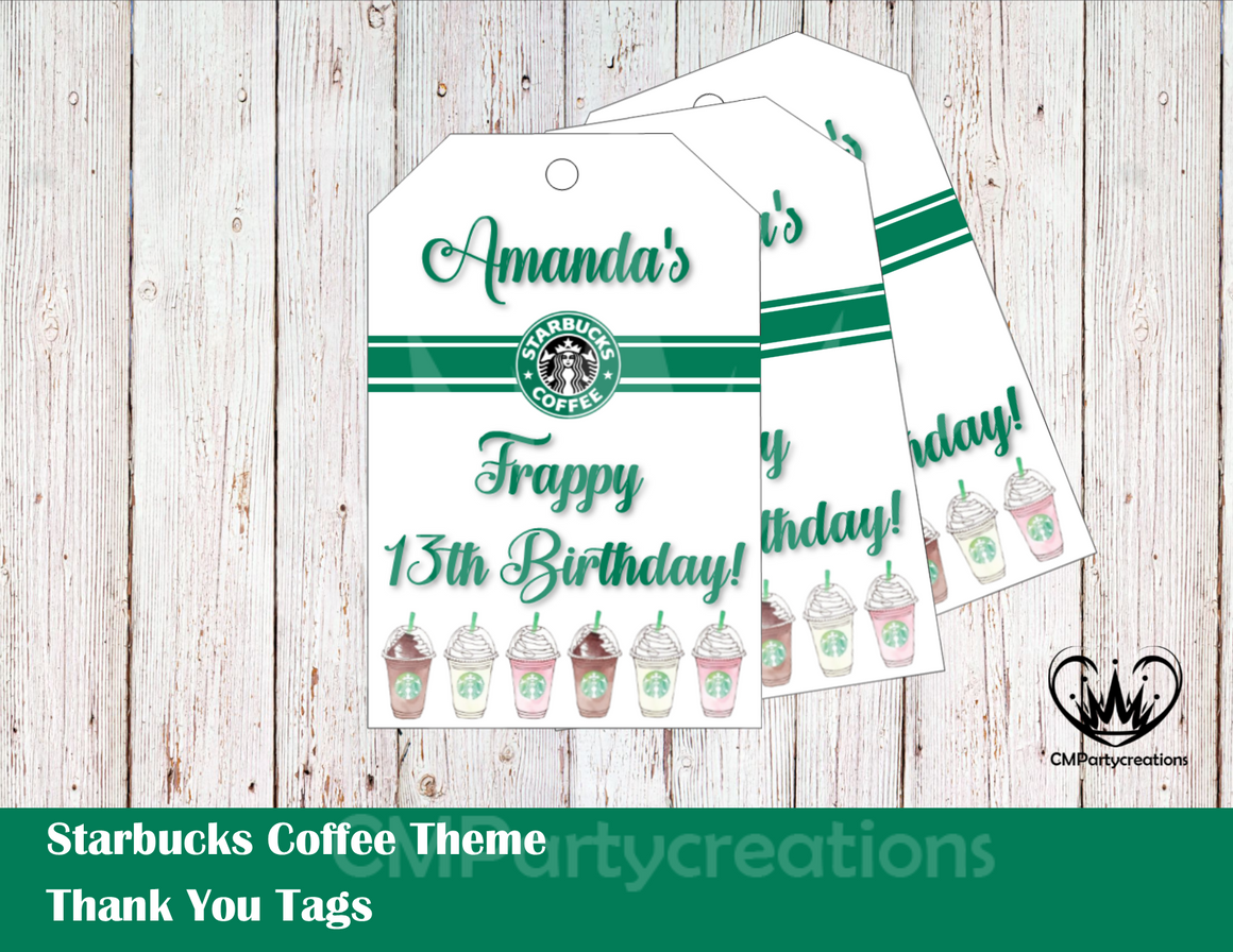 Starbucks Personalized Thank You Tags