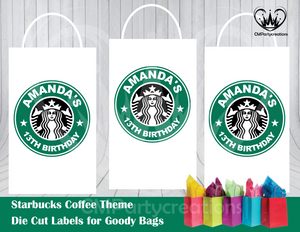 Starbucks Die Cut Goody Bag Labels