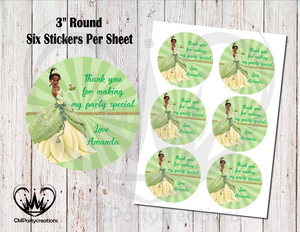 "Tiana 3"" Round Thank You Stickers"
