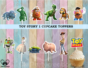 Toy Story Birthday Party Cupcake Toppers