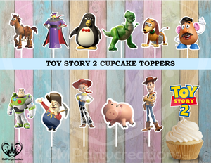 Toy Story 2 Birthday Party Cupcake Toppers