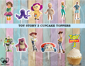 Toy Story 3 Birthday Party Cupcake Toppers