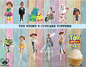Toy Story 4 Birthday Party Cupcake Toppers