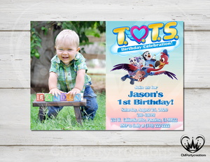 Tots Personalized Invitation Birthday Party