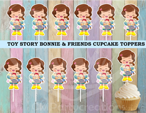 Toy Story Bonnie Cupcake Toppers