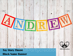 Toy Story Name Banner