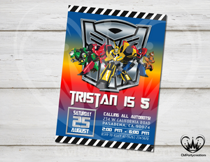 Transformers Birthday Invitation Party