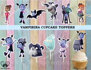 Vampirina Cupcake Toppers | CMPartycreations