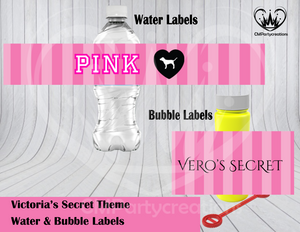 Victoria Secret Water & Bubble Labels