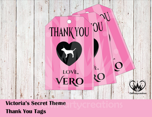Victoria Secret Personalized Thank You Tags