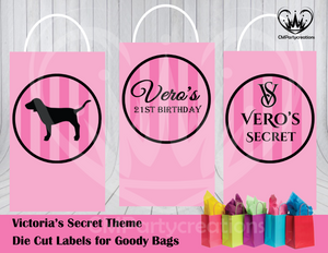 Victoria Secret Die Cut Goody Bag Labels