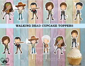 The Walking Dead Cupcake Toppers